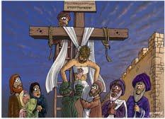 jesus dies on cross
