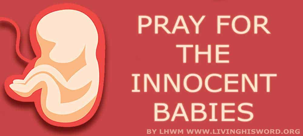 New Law Saddens our Hearts but Remember God Hears and Sees ALL