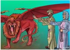 devour 1 Peter roaring lion