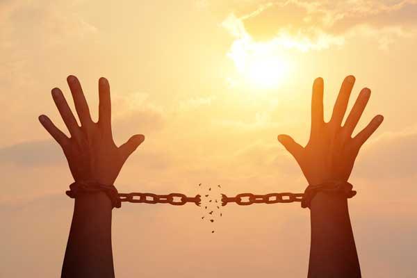 chains broken being set free