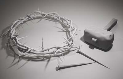 nails crown of thorns jesus