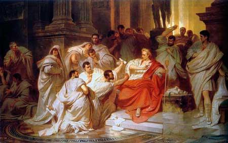 christ is head of the church, Karl_Theodor_von_Piloty_Murder_of_Caesar_1865_small