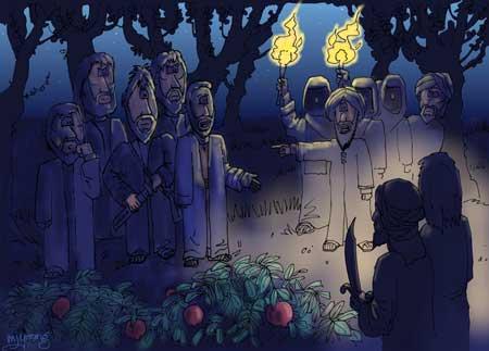 growing in jesus, jesus-in-the-garden-being-arrested