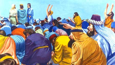 Sam Coonrod Chose Jesus, worshipping-the-gold-statue-except-for-the-3-men-daniel