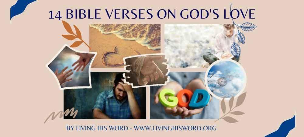 14 bible verses on Gods love